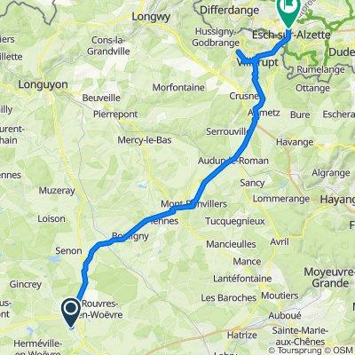 2021-09-11_Étain-Esch Friedensradfahrt 2021 Verdun - Kleine Brogel 10.9. - 26.9.2021