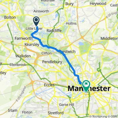 98–110 Masefield Road, Little Lever, Bolton to 91 Hewitt St, Manchester