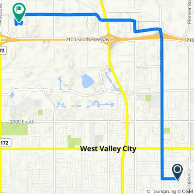 3850 S Redwing St, West Valley City to 1795 S 5350 W, Salt Lake City