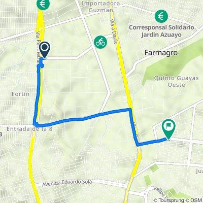 De Calle 23C NO, Guayaquil a Calle 19h No (Dr. Fernado Gutierrez Hill) Y 1er Pasaje 38c No, Guayaquil