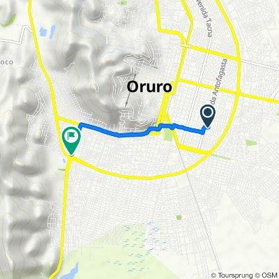 De Calle Santa Bárbara 46, Oruro a Avenida Dehene, Oruro