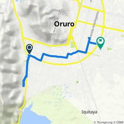 De Avenida Dehene, Oruro a Oruro