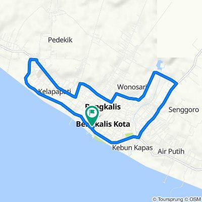 Jalan Teuku Umar 51, Kecamatan Bengkalis to Jalan Patimura 22a, Kecamatan Bengkalis