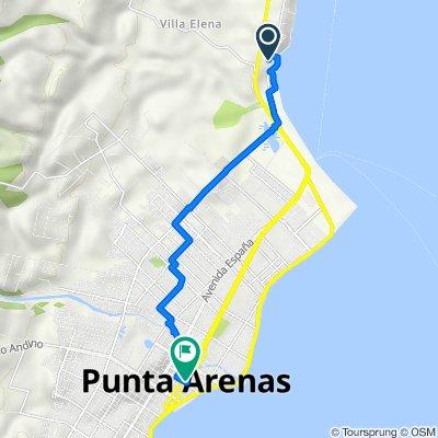 De Ruta 9 301, Punta Arenas a Plaza Benjamín Muñoz Gamero 771, Punta Arenas