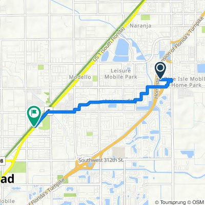 SW 138th Pl, Homestead to 30010 S Dixie Hwy, Homestead