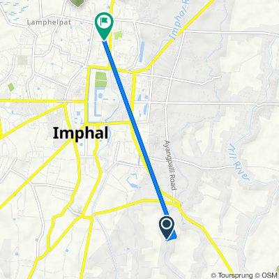Kongba - ChongabiLampak Road, Imphal to Unnamed Road, Imphal