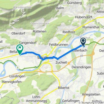 Grüttbachstrasse 2, Luterbach nach Fabrikweg 1, Bellach