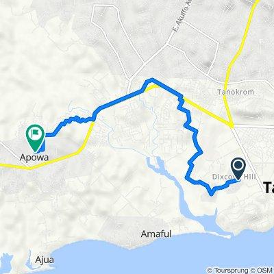 Takoradi to Unnamed Road, Apowa