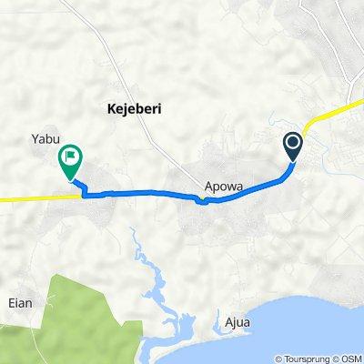 Takoradi - Agona Road to Beahu