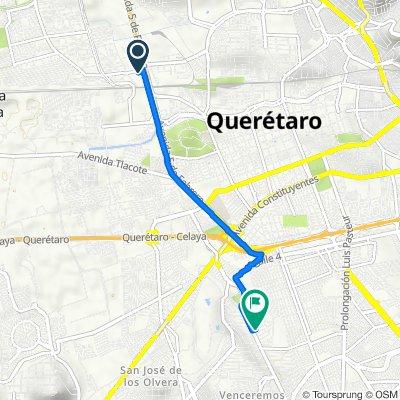 De Calle San Diego, Santiago de Querétaro a Calle Carlos Esquerro 37, Santiago de Querétaro