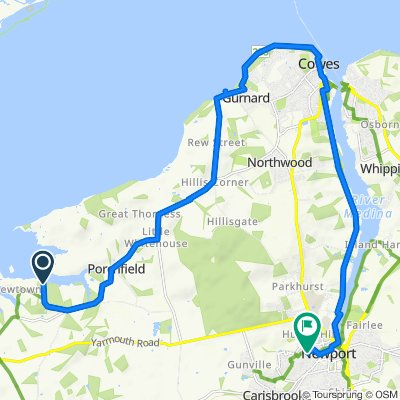 Route to 28 Dairy Crest Dr, Newport