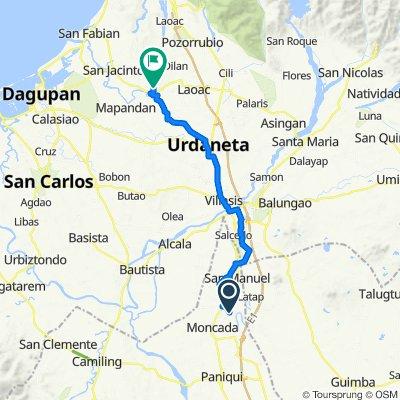 Tolega Road, Moncada to Limos Street, Manaoag
