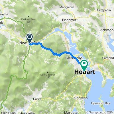 De 40 High Street, New Norfolk à 96 Bathurst Street, Hobart
