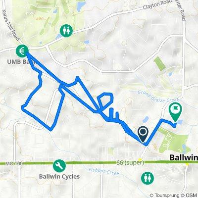 507 Kehrs Mill Rd, Ballwin to 358 Watford Dr, Ballwin
