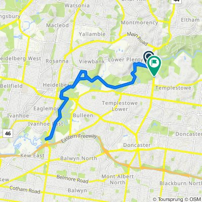 Main Yarra Trail, Templestowe to 41 Fitzsimons Lane, Templestowe