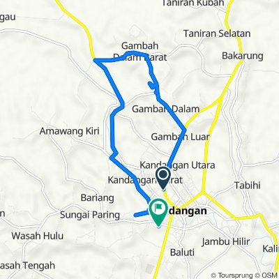 Jalan Ahmad Yani 25, Kandangan to Jalan Hantarukung, Kandangan