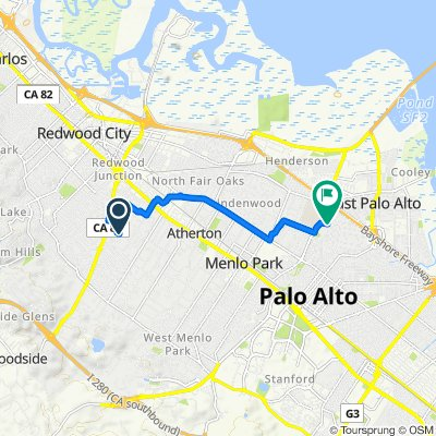 905–1275 Chelsea Way, Redwood City to 407 Okeefe St, Menlo Park