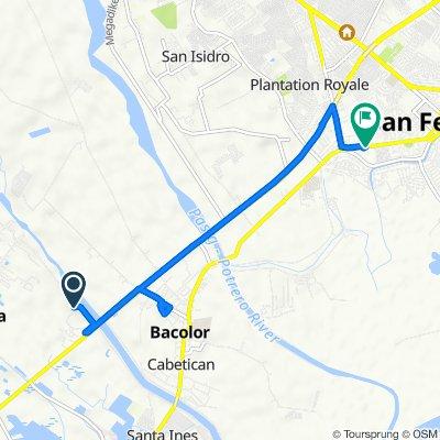 Route to San Fernando-Lubao Road, San Fernando City