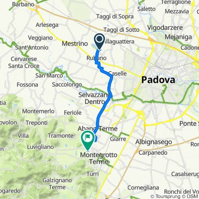 Da Via Roma 58/A, Rubano a Via Montegrotto 56/1, Abano Terme