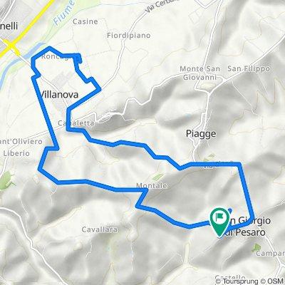 Da Strada Borgo Duca 8, San Giorgio di Pesaro a Strada Borgo Duca 6, San Giorgio di Pesaro