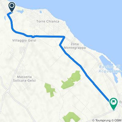 Da Via Itaca Lido 24, Torre Rinalda a Strada Provinciale Lecce-Frigole, Lecce