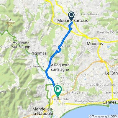 De Rue de la République 10, Mouans-Sartoux à Mandelieu-la-Napoule