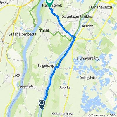 Vitorlás utca 2–6., Kiskunlacháza to Táncsics Mihály utca 73., Halásztelek