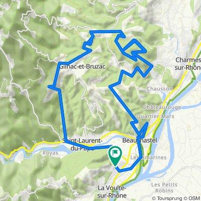 De Rue de Gonon 9, La Voulte-sur-Rhône à Montée des Sources 1, La Voulte-sur-Rhône