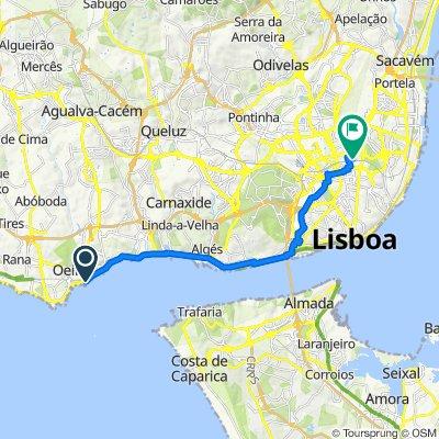De Avenida Marginal, Oeiras a Rua Pedro Ivo 12, Lisboa