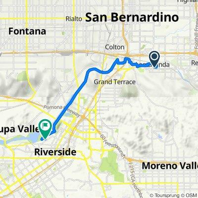 25044 Prospect Ave, Loma Linda to 5044–5054 Rubidoux Ave, Riverside