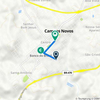 De Rua Marechal Floriano, 876–938, Campos Novos a Rua Dom Daniel Hostin, 176–232, Campos Novos