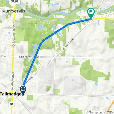 East Avenue 168, Tallmadge to Northeast Avenue 1765, Tallmadge