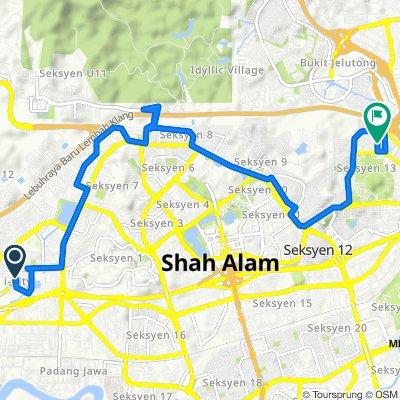 Jalan Multimedia 7/AJ, Bukit Cherakah to 21–43, Jalan Snuker 13/28, Damansara