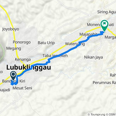Lorong Brantas II, Lubuk Linggau Barat I to Air Kuti, Lubuk Linggau Timur I