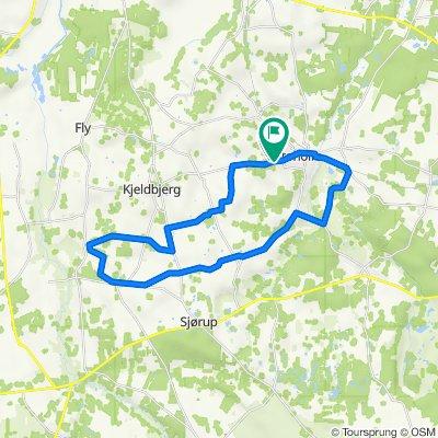 Smollerup-Kjeldbjerg-V. Børsting-Trevad-Vroue-Lånum-Toftum-Stoholm