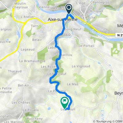 De Promenade des Grèves, Aixe-sur-Vienne à 7 Le Breuil, Saint-Martin-le-Vieux