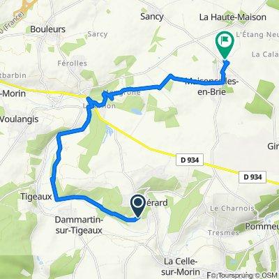 De Rue de Georgevilliers, Guérard à 12 Rue de la Borde, Maisoncelles-en-Brie