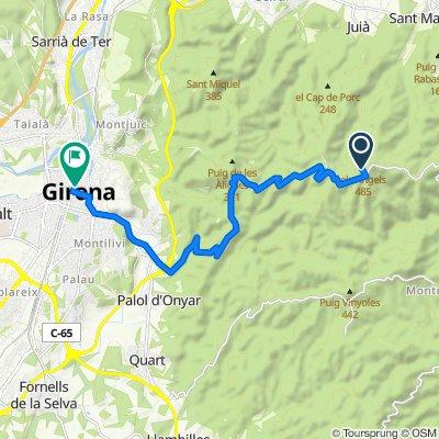 Ruta a Ronda de Sant Antoni Maria Claret, 5, Girona