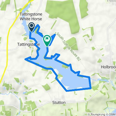 Route from School Road, Wherstead, Ipswich