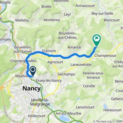 Itinéraire à partir de 3 Rue du Chanoine Boulanger, Malzéville