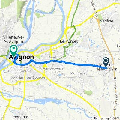De 59 Impasse du Vallon, Morières-lès-Avignon à 16 Chemin de l'Île Piot, Avignon