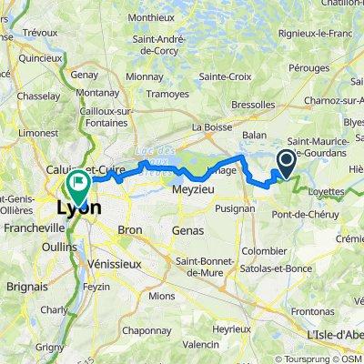 De D55E, Anthon à Unnamed Road, Lyon
