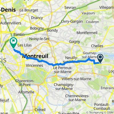 De 4 Rue Pasteur, Champs-sur-Marne à 375 Rue des Pyrénées, Paris