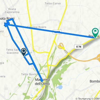 Da Via Ercole Negri di Sanfront 13, Cuneo a SS231 118, Ronchi