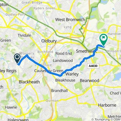51 Dudley Road, Rowley Regis to Cornwall Road Industrial Estate, Cornwall Road, Smethwick