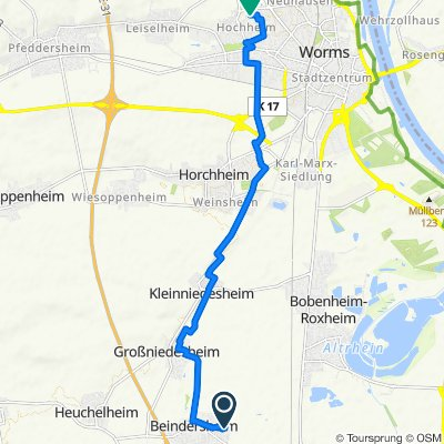 Eisbachweg 6, Beindersheim nach Ernst-Handschuch-Straße 2, Worms