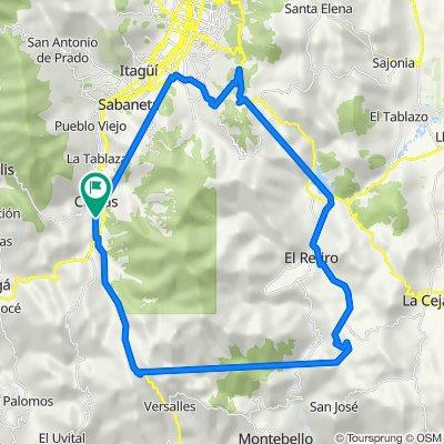 De Calle 138b Sur 72, Caldas a Carrera 51 84, Caldas