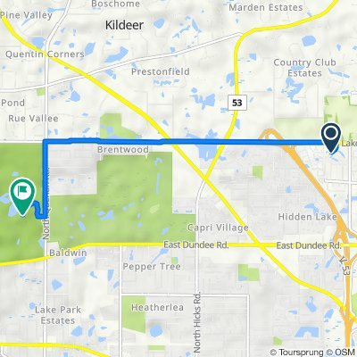 4212 N Bloomington Ave, Arlington Heights to 285 W Lake Cook Rd, Palatine