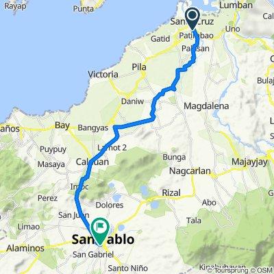 Barangay Patimbao Road, Santa Cruz to Pan-Philippine Highway 2, San Pablo City