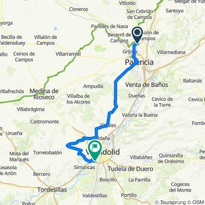 Husillos-Valladolid (por Ciguñuela y Cigales)